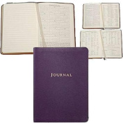 BRIGHTS-PURPLE Fine Leather 18cm Medium Travel Journal by Graphic Image -