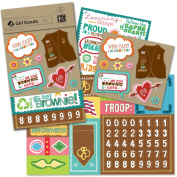 K & Company Girl Scout Brownie Scrapbook Kit Flip Pack
