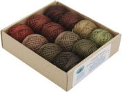 Valdani Forest Canvas, Peal Cotton pack of 12, Hand-Dyed.