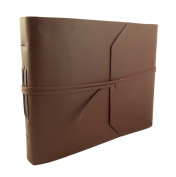 Large Genuine Leather Photo Album with Gift Box - Scrapbook Style Pages - Holds 300 10cm x 15cm or 120 13cm x 18cm Photos