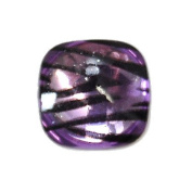 Purple - 14pc Smooth Acrylic Zebra Flatback Rounded Square Rhinestones