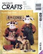 McCall's 6319 Crafts Sewing Pattern Cow Dolls Doorstop Bean Bag