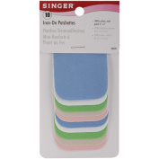Singer 5.1cm -by-7.6cm Iron-On Patches, Light Assortment, 10 per package