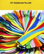 23cm Unique Invisible Zipper Dandelion Yellow - YKK Conceal Zipper Colour 131 By Each