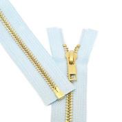 28cm [Special] Zipper ~ YKK #5 Brass Separating ~ 542 Lite Blue