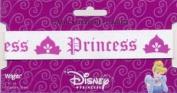 Disney Princess Elastic White w Dark Pink 2.5cm Wrights