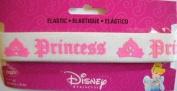 Disney Princess Elastic White w Lt Pink 2.5cm Wrights