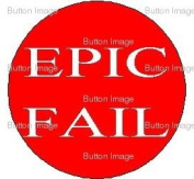 EPIC FAIL Pinback Button 3.2cm Pin
