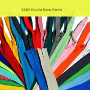 Unique Invisible Zipper 23cm YKK Colour Z282 Yellow Neon Green