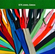 Unique Invisible Zipper 23cm YKK Colour 876 Jewel Green