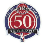 Detroit Pistons 50th Anniversary Logo Patch