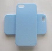 DIY Blue Hard Snap-on Backcover Case for Apple Iphone 5S --- By Pixiheart