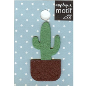 Cactus Design Small Iron-on Applique