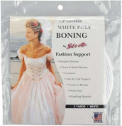 Covered Poly Boning 1.3cm Wide 3 Yards-white