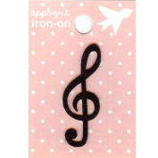 G Clef Design Small Iron-on Applique