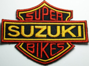 Super Suzuki Bikes Patches Motorcycle Biker Embroidered Iron on Patch 8.5x6.5 Cm