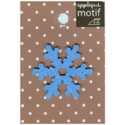 Blue Snow Design Small Iron-on Applique