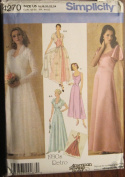 SIMPLICITY PATTERN 4270 MISSES' VINTAGE EVENING DRESS IN TWO LENGTHS AND JACKET SIIZE K5 8-16