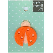 Ladybug Design Small Iron-on Applique