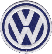 Vw Volkswagen Patches (Blue) Embroidered Iron on Patch /Hooray Ya