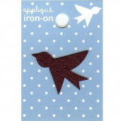 Bird Design Small Iron-on Applique
