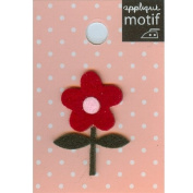 Red Flower Design Small Iron-on Applique