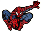 Spider-man flying shooting spider web Embroidered Iron On / Sew On Patch