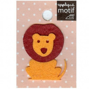 Lion Design Small Iron-on Applique