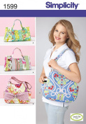 SIMPLICITY 1599 Totes Bags Purse (3 STYLES) SWEET PEA TOTES SEWING PATTERN