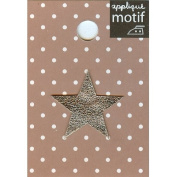 Silver Star Design Small Iron-on Applique