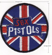 Sex Pistols Music Band Logo Embroidered Iron on Patches P1