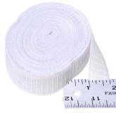 Elastic ~ Non-roll Elastic 1.9cm ~ White ~ By Yard