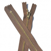 10cm YKK Pants Brass Zipper #4.5 - 568 Lite Brown