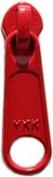 Zipper Pull Replacements ~ YKK Handbag Slider #4.5 Coil Long Pull N/L Slider ~ Hot Red