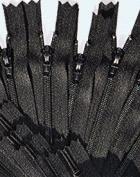 5.1cm Doll Zipper YKK #3 Nylon Coil Zippers ~ Closed Bottom ~ Black