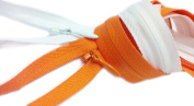 Sale 46cm Unique Invisible Zipper YKK Zipper Conceal ~ Colour 501 White and 523 Nectar Orange