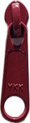 Zipper Pull Replacements ~ YKK Handbag Slider #4.5 Coil Long Pull N/L Slider ~ Cameo Red