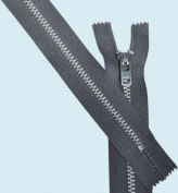 28cm Pants Aluminium Zipper ~ Talon #4.5 with Locking Slider - 028 Graphite