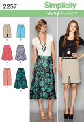 Simplicity Sewing Pattern 2257 Misses' Easy to Sew Skirts