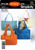 Simplicity 4625 Sewing Pattern Bag Handbag Tote Purse
