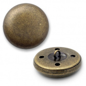 Round Metal Button with Shank 1.7cm Antique Brass by each SEE-TR10385