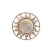 Equator - 2.2cm Copper/Multicoloured Metalized Button