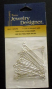 Jewellery Design 3.8cm Eye Pin Bright Silver 1 Package of 30