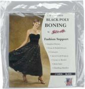 Covered Poly Boning 1.3cm Wide 3 Yards-black