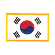 Tiger Claw Korean Flag Patch - 8.9cm wide
