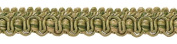 Olive Green, Champagne 1.3cm Imperial II Gimp Braid Style# 0050IG Colour