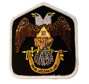 Masonic Scottish Rite 32nd Degree embroidered Patch