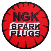NGK SPARK PLUGS iridium Motorcycles MotoGP Racing Logo Shirt PN08 Patches