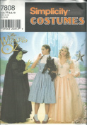 Simplicity 7808H Sewing Pattern Misses Wizard Of Oz Costume Size 6-10