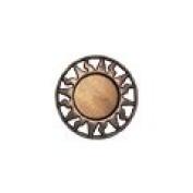 Equator - 1.9cm Copper/Caramel Metallized Button